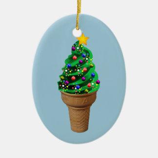 かわいいクリスマスのアイスクリームの木のモダンなオーナメント セラミックオーナメント