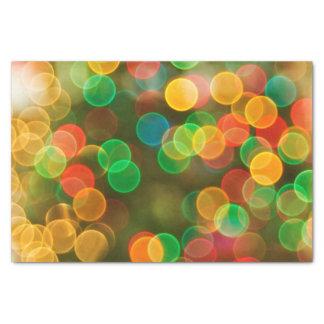 かわいいクリスマスのカラフルの泡 薄葉紙