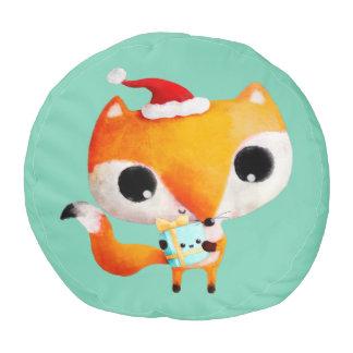 かわいいクリスマスのキツネ プーフ