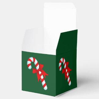 かわいいクリスマスのキャンディ・ケーンの好意箱 フェイバーボックス