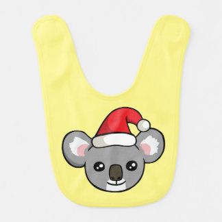 かわいいクリスマスのコアラのサンタの帽子のスケッチのベビー用ビブ ベビービブ