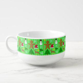 かわいいクリスマスのコラージュの休日パターン スープマグ