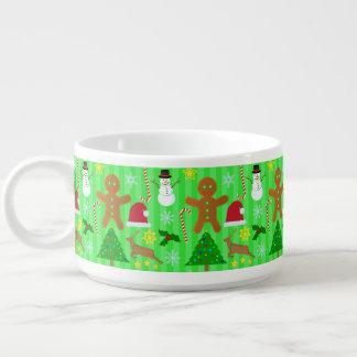 かわいいクリスマスのコラージュの休日パターン チリボウル