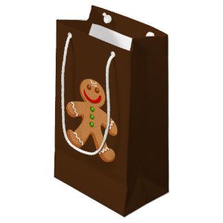 かわいいクリスマスのジンジャーブレッドの小さいギフトバッグ スモールペーパーバッグ