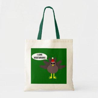 かわいいクリスマスのトルコのカスタムなベジタリアンのバッグ トートバッグ