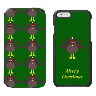 かわいいクリスマスのトルコのカスタムなiPhoneの場合 iPhone 6/6sウォレットケース