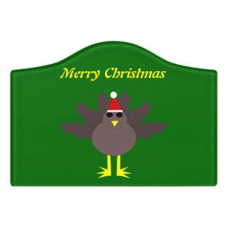かわいいクリスマスのトルコカスタムな部屋の印 ドアサイン