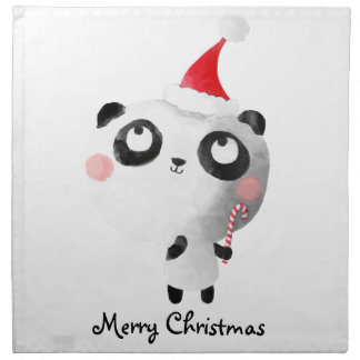 かわいいクリスマスのパンダくま ナプキンクロス