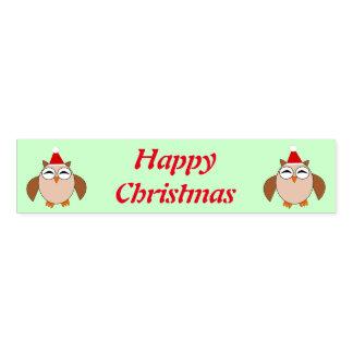 かわいいクリスマスのフクロウのカスタムなナプキンバンド ナプキンバンド
