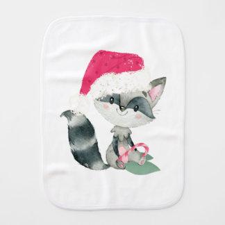 かわいいクリスマスのベビーのアライグマ バープクロス