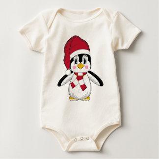 かわいいクリスマスのペンギンのクリーパー ベビーボディスーツ