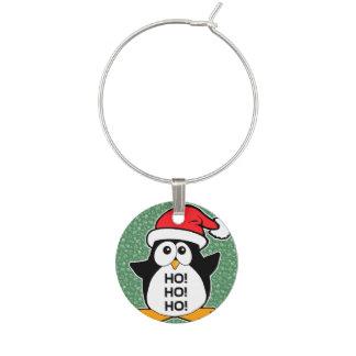 かわいいクリスマスのペンギンHo Ho Ho ワインチャーム