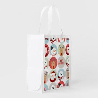 かわいいクリスマスの円 エコバッグ