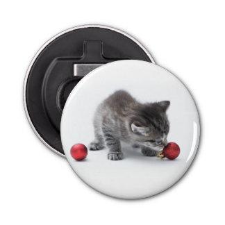 かわいいクリスマスの子ネコの栓抜き 栓抜き