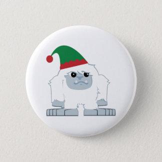 かわいいクリスマスの小妖精や小人の雪男 5.7CM 丸型バッジ