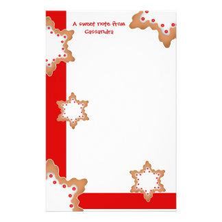 かわいいクリスマスの星のクッキー 便箋