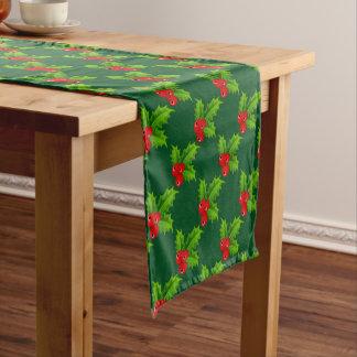 かわいいクリスマスの果実はテーブルのランナーをショートさせます ショートテーブルランナー
