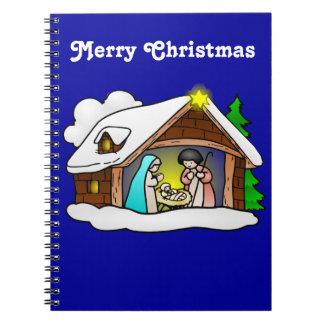 かわいいクリスマスの漫画の出生 ノートブック