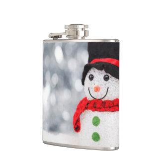 かわいいクリスマスの雪だるまの《写真》ぼけ味 フラスク