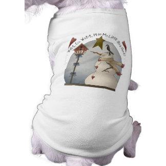 かわいいクリスマスの雪だるま犬のワイシャツ ペット服