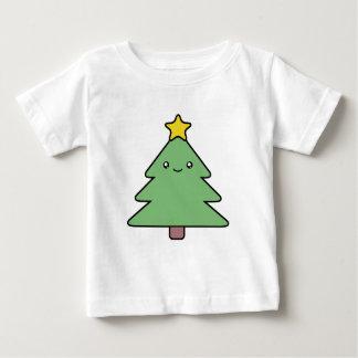 かわいいクリスマスツリーのワイシャツ ベビーTシャツ