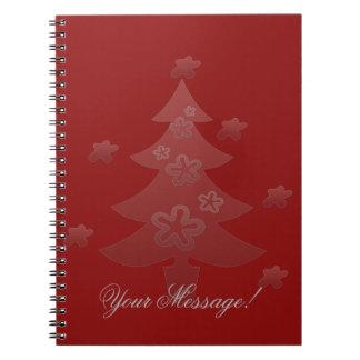 かわいいクリスマスツリーは休日のノートを主演します ノートブック