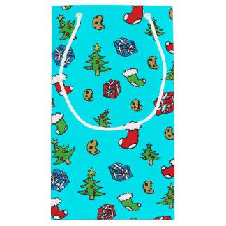 かわいいクリスマスパターンギフトバッグ スモールペーパーバッグ