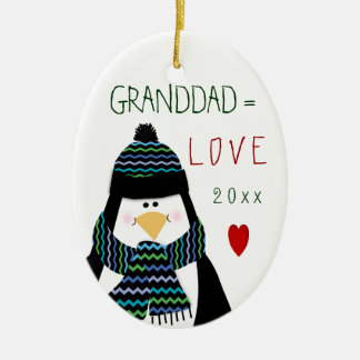 かわいいクリスマス愛祖父のオーナメント セラミックオーナメント