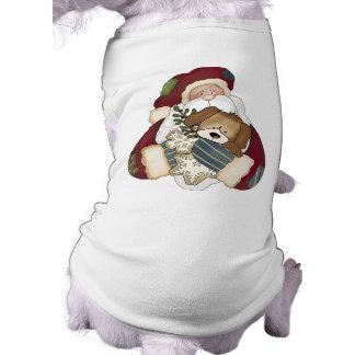 かわいいクリスマス犬のワイシャツ ペット服