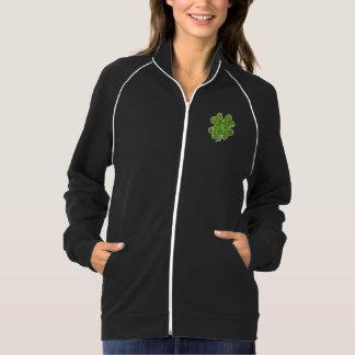 かわいいクローバーのアイルランド人のグリッターの緑 ジャケット