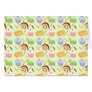 かわいいケーキパターン カード