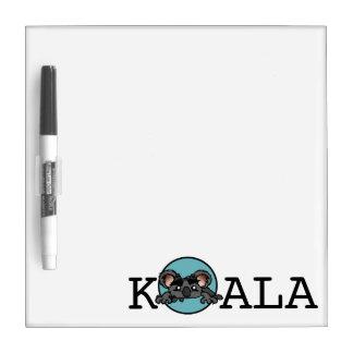 かわいいコアラの小さいホワイトボード ホワイトボード