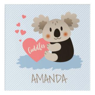 かわいいコアラはID386を抱きしめます アクリルウォールアート