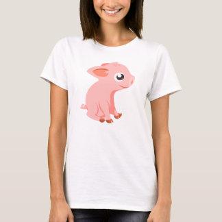 かわいいコブタの家畜のTシャツ Tシャツ