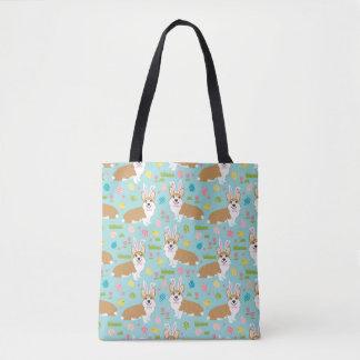 かわいいコーギーパターントートバック-コーギーのバッグ トートバッグ