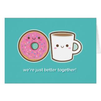 かわいいコーヒー及びドーナツ カード