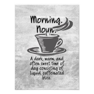 かわいいコーヒー恋人のおもしろいな朝の引用文 フォトプリント