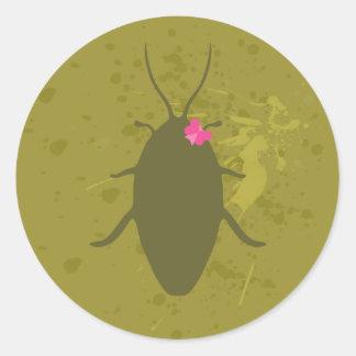 かわいいゴキブリのステッカー ラウンドシール