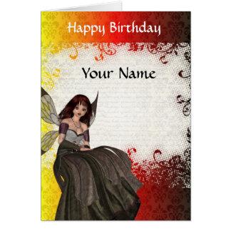 かわいいゴシック様式妖精の誕生日 カード