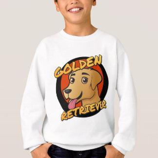 かわいいゴールデン・リトリーバーの漫画 スウェットシャツ