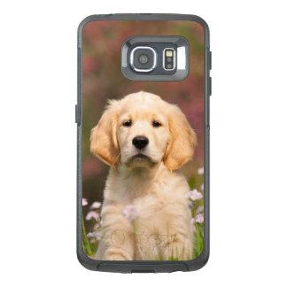 かわいいゴールデン・リトリーバー犬の子犬のポートレート-保護して下さい オッターボックスSamsung GALAXY S6 EDGEケース