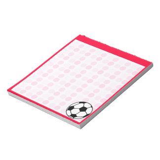 かわいいサッカーボール ノートパッド