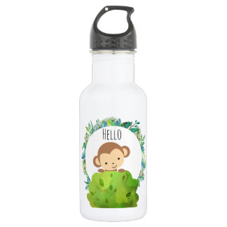 かわいいサファリ猿こんにちは ウォーターボトル
