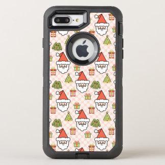 かわいいサンタ オッターボックスディフェンダーiPhone 8 PLUS/7 PLUSケース