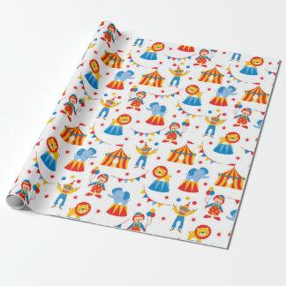 かわいいサーカスの動物の包装紙 ラッピングペーパー