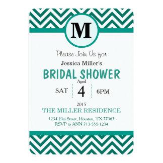 かわいいシェブロンのブライダルシャワーの招待 カード