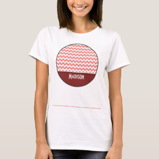 かわいいシェブロン; 珊瑚 Tシャツ