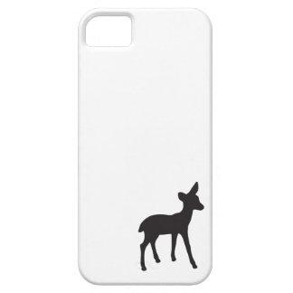 かわいいシカの子鹿の白黒の素朴でシックなシルエット iPhone SE/5/5s ケース