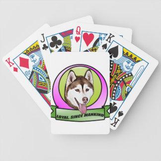 かわいいシベリアンハスキー犬 バイスクルトランプ