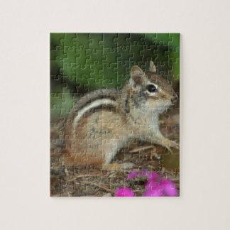 かわいいシマリスの写真が付いているプロダクト ジグソーパズル